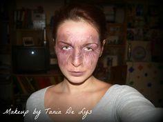 Zombie veins makeup
