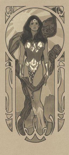 Art Nouveau Wonder Woman by Adam Hughes