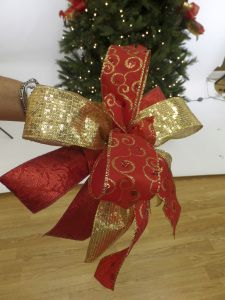 Christmas Bow-Royal Red and Gold bow for traditional Christmas decorating.