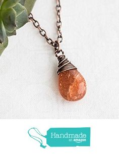 Sunstone Necklace, Copper Wire Wrapped Jewelry from Radiant Jewel Studio https://www.amazon.com/dp/B019LXH9BE/ref=hnd_sw_r_pi_awdo_GcA7yb1CNQRGG #handmadeatamazon