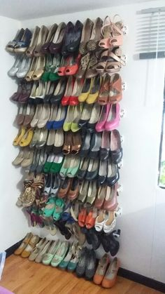 Organizador de zapatos en pinterest cables de energ a y for Mueble zapatero colombia