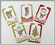 Color Me Christmas tags