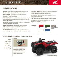 New 2016 Honda FourTrax® Rancher® 4X4 Automatic DCT IRS EPS ATVs For Sale in Arizona. Call Western Honda Powersports at 480.524.1435, text, or come see us for more information- Visit/ call us with $$ deposit and or be ready to buy this awesome machine! Our Powersports Dealership offers the lowest pricing possible, combined with a low pressure, easy to deal with, friendly staff. Everything is on sale at Western Honda in our Sales, Parts and Honda Service Departments. We shop the competition…