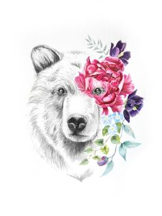 "🌹🌹🌹 ""Mamma Bear"" by Sherryn Leigh Animal Paintings, Paintings For Sale, Animal Drawings, Art Drawings, Baby Bear Tattoo, Cubs Tattoo, Tattoo Signification, Bear Drawing, Drawn Art"