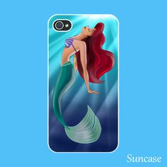 iPhone 4 case --The little Mermaid , Ariel iPhone 4S case,  plastic hard case or silicone rubber case. $14.99, via Etsy.