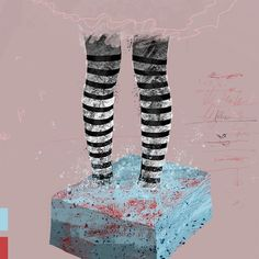 Work in progress testing out some new #photoshop #brushes. #illustration of striped #socks. #drawing #art #texture #grit