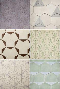 Tiles by Claesson Koivisto Rune via Scandinavian Deko Marrakech design Floor Patterns, Tile Patterns, Textures Patterns, Print Patterns, Tile Design, Pattern Design, Deco Paris, Honeycomb Pattern, Bathroom Inspiration