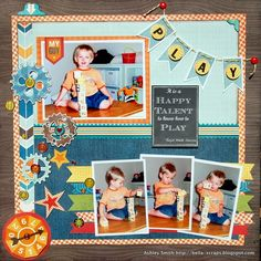 #papercrafting #scrapbook #layout Play - Scrapbook.com