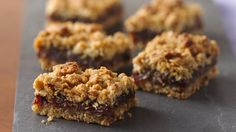 Dessert ready in about an hour! Enjoy classic date filled bars in a new way - a wonderful treat.
