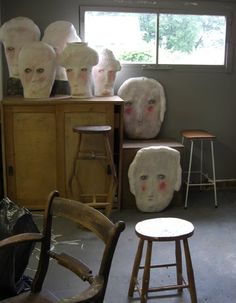 Claire Loder's studio