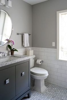 Grey and white bathroom designs gray bathroom pictures amazing small basement bathroom gray bathrooms black white . grey and white bathroom designs Gray And White Bathroom, Trendy Bathroom, Bathroom Makeover, Subway Tiles Bathroom, Gray Bathroom Decor, Amazing Bathrooms, Bathroom Flooring, Bathrooms Remodel, Grey Bathrooms