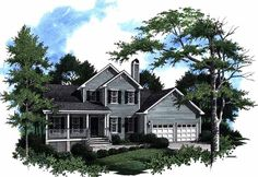 Eplans Country House Plan - Traditional Farmhouse Flavor - 1612 Square Feet and 3 Bedrooms(s) from Eplans - House Plan Code HWEPL09067