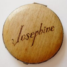 Vintage 1900s Art Deco Pyrography Josephine Vanity Table Powder & Rouge Make Up Compact. $32.00, via Etsy - very similar to my Maxine compact