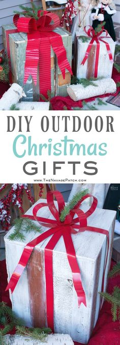 DIY Outdoor Christmas Gifts. Outside Christmas Decorations.