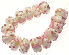 8 bca rondelle lampwork beads starting at 5 on http