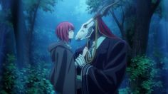 Here is a shot of Chise and Elias Ainsworth from The Ancient Magus' Bride anime. Magus Bride Manga, Elias Ainsworth, Chise Hatori, The Ancient Magus Bride, Anime Screenshots, Animes Wallpapers, Me Me Me Anime, The Magicians, Kawaii Anime