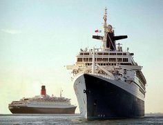 The France/Norway with the QE2