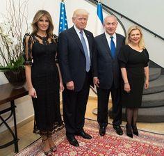 Melania, President Trump BB & Sara Netanyahu