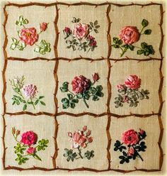 Image Source Page: http://stonehillcollectibles.mybisi.com/product/silk-ribbon-embroidery-roses-flower-patterns-sampler-bride-bouquet-