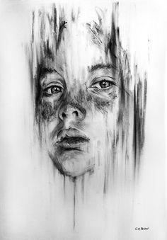 Marcello Castellani | Portrait 003 Portrait Sketches, Portrait Art, Distortion Art, Advanced Higher Art, A Level Art Sketchbook, Freedom Art, Art Alevel, Identity Art, Ap Art