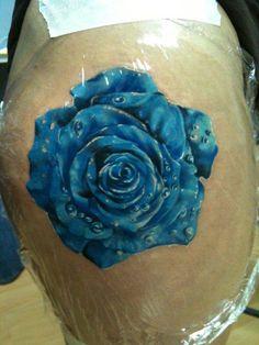 Blue Rose Tattoo - George Mavridis http://tattoosflower.com/blue-rose-tattoo-george-mavridis/