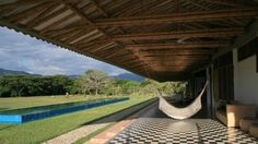 hammocking under Simon Velez architecture