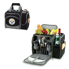 NFL Pittsburgh Steelers Malibu Insulated Shoulder Pack with Deluxe Picnic Service for Two: Amazon.com.mx: Deportes y Aire Libre