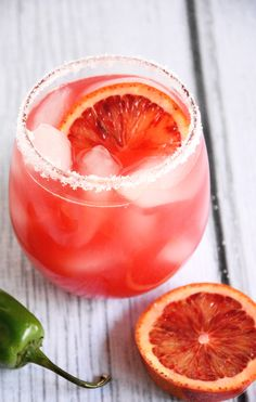 Blood Orange Margarita #recipe #margaritas