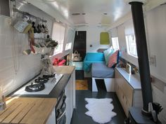Archipelago 41 foot narrowboat for sale - Home couch Narrowboat Kitchen, Narrowboat Interiors, Barge Interior, Best Interior, Interior Design, Canal Boat Interior, Canal Barge, Living On A Boat, Floating House