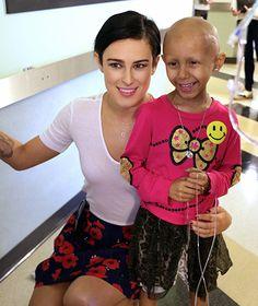 Rumer Willis at Children's Hospital Los Angeles