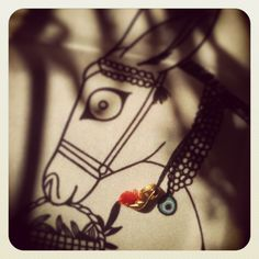 """Grecian Donkey"" silk pocket square by Grecian chic accompanied by Katerina Ioannidi's ""greek tsarouhi""!"