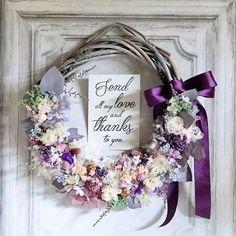 mille fleures / flower atelierさんはInstagramを利用しています:「リースブーケ💍 * ラベンダー系紫の花柄を チュールが優しく包んだ ドレスに。 * ドレスが大柄でしたので リースブーケは小花で繊細に アレンジ。 * * * * * * * * * * * * * #flowers #flowerstagram #wreath…」 Wedding Bouquets, Wedding Flowers, Frame Wreath, How To Preserve Flowers, Box Frames, Purple Wedding, Light Purple, Wedding Trends, Dried Flowers