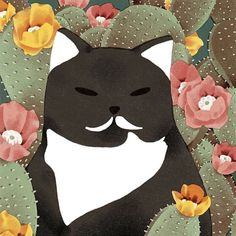 This is Celia's frenemie Loni who is rocking a permanent milk stache how regal!  #citycatstudies #catlady by jeanniephan