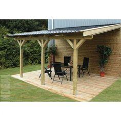 Garage 1 pente cerisier abris de jardin en bois jardin pi - Carport bois 2 pentes ...