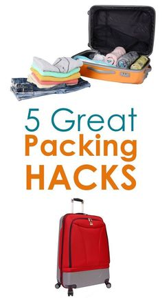 5 Great Packing Hacks to make your travels easier! Travel tips that are perfect for your next trip or family vacation.