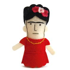 Frida Kahlo Felt Finger Puppet
