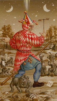 0. The Fool: Bruegel Tarot