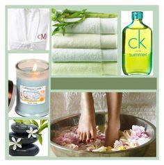 Spa Day by lemon-limelight Calvin Klein Perfume, Spa Day, Lemon, Candles, Polyvore, Candy, Candle, Pillar Candles, Lights