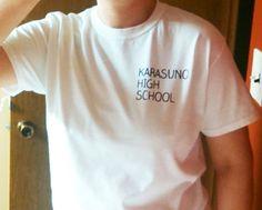 Karasuno High School t-shirt - Volleyball Haikyuu gym tee