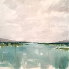 """Waterway"" by Shannon Wood, 30 x 30, oil on gallery wrapped canvas, $1,200"