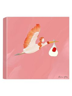 Stork Delivery (Canvas) by Magic World of Uti Artwork