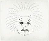 Eva Herrmann, karikierende Porträtzeichnung von Albert Einstein, vermutlich 1931