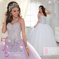 """Shine bright and dazzle your way through the crowd at your upcoming #Quinceanera in #FiestaGowns, Style 56276. Your """"Happily Ever After Quince"""" awaits... <3  Fiesta Gowns, Style 56276. Available in... Lilac, White and Rose Pink."""