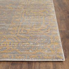 Safavieh Valencia Grey/ Gold Polyester Rug (9' x 12')