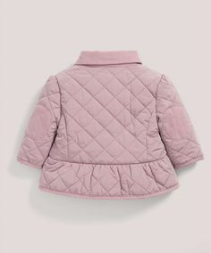 Dusky Pink Padded Jacket - All Girls - Mamas & Papas Winter Outfits, Kids Outfits, Winter Clothes, Mamas And Papas, Fall Baby, Kids Coats, Padded Jacket, Baby Sewing, Boy Fashion
