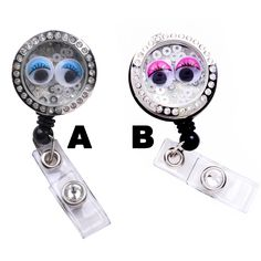 New Bubble Eyes Charm Locket Badge Reel Retractable ID Badge Holder Now @ SIZZLE CITY Shop - Come Visit Us Today!  Visit Here: http://sizzlecity.com/product/bubble-eyes-charm-locket-badge-reel-retractable-id-badge-holder/