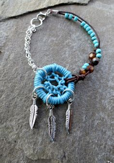 Dream catcher bracelet. Such a beautiful piece of arm candy.