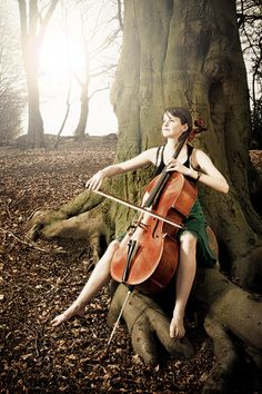 The Cello  I don't know this particular cellist, but I'll definitely look her up.  Fin the Cellist by Heinz Schmidt, via Flickr