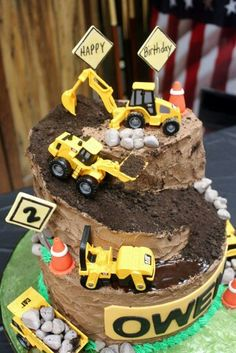 My construction cake Construction Party Pinterest