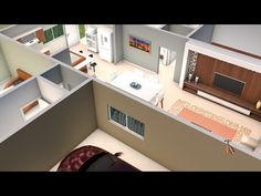 House plan with three bedrooms and American kitchen - YouTube American Kitchen, Corner Desk, My House, 3 D, House Plans, Floor Plans, Flooring, How To Plan, Bedroom